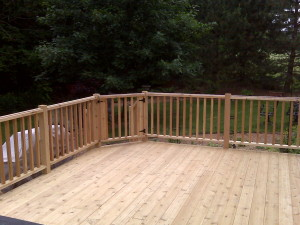 New Deck and Rails
