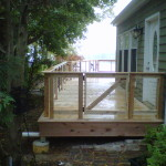New Deck With Cable Railing
